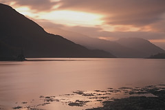 Memories of Sunset.. (lordoye) Tags: sunset mountains gloaming kinlochleven scottishhighlands lochleven longexposur diffuselight nd110 1740f40l eos7d