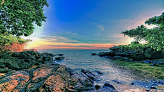#850C6051- Exploring the rocks of Batubatu (crimsonbelt) Tags: sunset beach rocks waters hdr balikpapan creeek batubatu