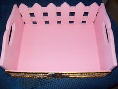 Cestinho da Giovanna (visto de cima) (Ateli Arte em Biscuit Fabola Silveira) Tags: rosa mel ursinhos transformao cestinha quartodebeb