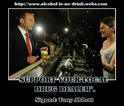 Australian Liberal Leader Tony Abbott at the pub.