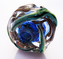 fern 3 (kitzbitz art glass by Jolene) Tags: glass vines lampwork floralbeads