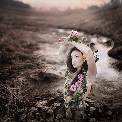 When Spring Awakened the Ground (Rob Woodcox) Tags: morning flowers wild sun beauty fashion sunrise spring vines warm glow desert god free ivy dry ground growth dirt stunning rebirth genesis awakened robwoodcox robwoodcoxphotography
