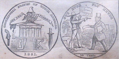 Harpers Weekly Confederate Coin Design