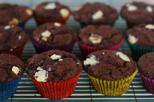 chocolate chunk muffins 5