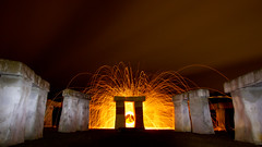 Portal (Spectral Convergence) Tags: longexposure lightpainting wool fire texas tx spin sparks megalith ingram stonehengeii hillcountyartsfoundation