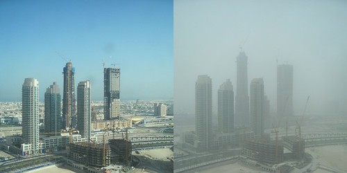 Clear Day in May vs Super Sandy Day in July