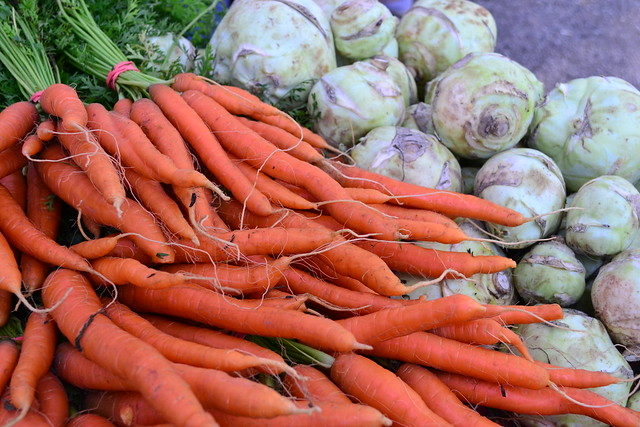 Carrots and Kohlrabi