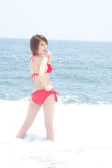 00978 (cosfit) Tags: ocean sea portrait people woman cute sexy beach girl beautiful beauty fashion japan lady asian japanese model asia pretty bikini swimsuit bathingsuit swimwear 20110703nisgp