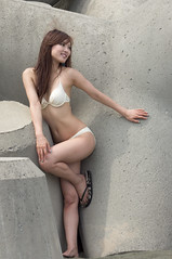 01487 (cosfit) Tags: ocean sea portrait people woman cute sexy beach girl beautiful beauty fashion japan lady asian japanese model asia pretty bikini swimsuit bathingsuit swimwear 20110703nisgp