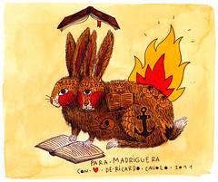 madriguera (Ricardo Cavolo) Tags: bunny bunnies tattoo fire book twins conejo libro siamese books anchor fuego ancla tatuaje madriguera conejos ricardocavolo