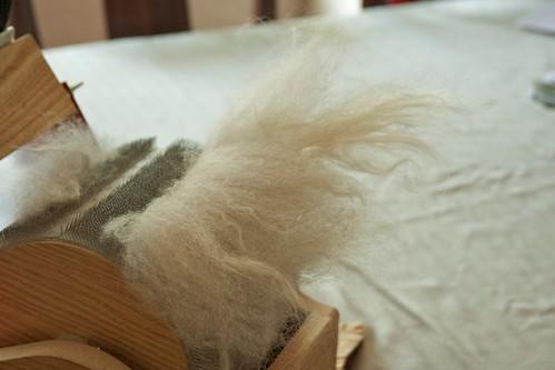 removing silk/wool batt