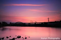 (joyoyo) Tags: sunset summer river landscape twilight nikon taiwan tokina taipei   1224mm  f4 keelung   d90 wideanglephotography t124 tokinaatx124afprodx1224mmf4 ultrawidelens  joyoyo tokinat124