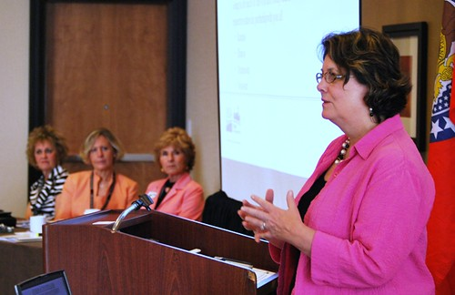 USDA Rural Development State Directors Janie Dunning, Colleen Landkamer, Colleen Callahan and Patty Clark make a  presentation to the Midwest Association of State Departments of Agriculture