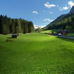The Rauris valley shaped by lush green Alpine meadows. (Bn) Tags: park blue shadow sky sun snow mountains alps green nature water walking geotagged heidi austria golden spring woods topf50 rocks day afternoon eagle farmers hiking farm wildlife meadows falls adventure clear evergreen alpine national valley goldenvalley gras rays peaks lush spar topf100 spruce larvae topf200 finest seekers birdofprey marmots gasthaus hohe rauris lariks unspoilt tauern 100faves 50faves 200faves krumltal hohersonnblick rauristal bartgeier beardedvulture bucheben 3106m dastaldergeier thekingsoftheair highsonnblick geo:lon=12978110 geo:lat=47126443 lechnerhusl lechnerhausl
