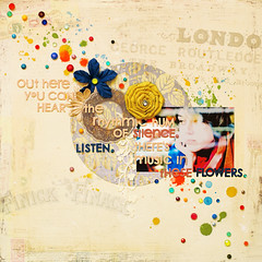 out here you can hear the rhythmic hum of silence.Listen.There's music in these flowers. (ania-maria) Tags: flowers music colors scrapbooking layout colorful paint crystals colours lo silence smell prima dots scrap listen designteam journaling primamarketing