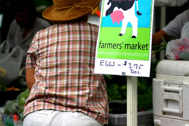 at the farmers' market