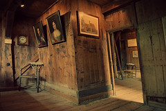 Painting with Light (Allard One) Tags: wood house holland history monument netherlands dutch museum architecture iso800 nikon chairs russia paintings nederland july wideangle medieval study sit paintingwithlight backdrop historical ladder juli portfolio cinematic shelves f28 huisje hout krimp schilderijen noordholland zaandam historie 1632 stoelen planken zaanstad 2011 northholland middeleeuws olddutch 26mm 1697 bouwval oudhollands takeaseat 4exposures nikcolorefexpro czaarpeter woodencottage czarpeterhouse d700 enfuse nikond700 nikkor2470mmf28 nikonfx schotsenscheef allardone allard1 bouwvallig daylighttotungsten scheepshout tsaarpeterhuis shipbuildingindustry zaanarea notasaloon totallyradactionmixii fullframepower lowlightmonster shippingtimber allardschagercom