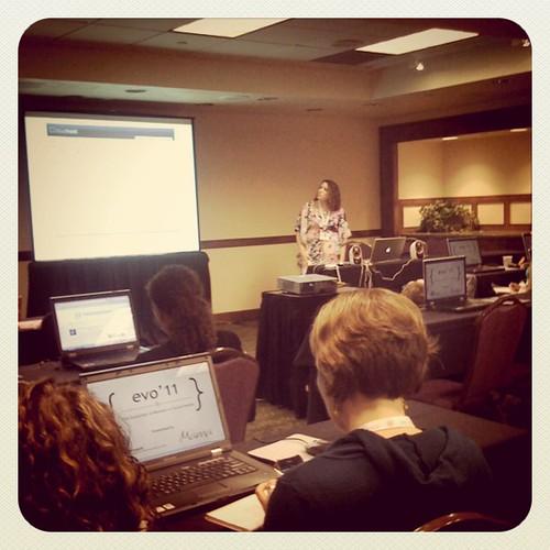 Wordpress & HTML basics session with @theworkingmom has started! @wordpressdotcom #evoconf