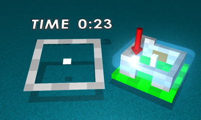 An example of how the top screen works in PUZZLEBOX: Copycat Cubes