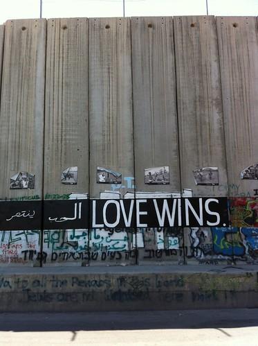 Pintada en el muro de Cisjordania