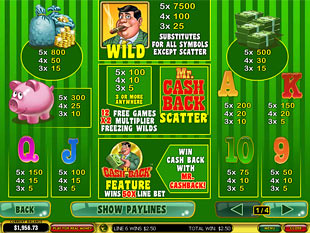 free Mr. Cashback slot mini symbol