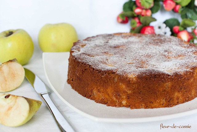 яблочно-медовый кекс 3