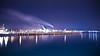 Port Kembla Steelworks [Explored] (Taha Elraaid) Tags: blue night canon lights steel australia nsw 7d taha wollongong steelworks portkembla kembla 1585mm elraaid tahaphotography