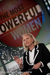Ginni Rometty of IBM and interviewer Jessi Hem...