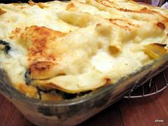 spinach & artichoke lasagna pan