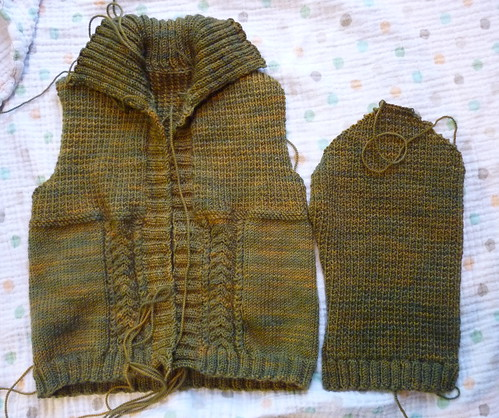 A cabled cardigan for Thomas