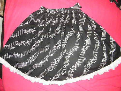 Metamorphose melody note skirt
