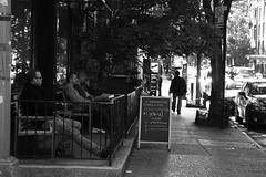 Good coffee (Indro Images) Tags: life street nyc bw usa newyork monochrome village greenwich canoneos40d indranilsaha