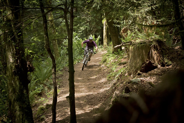 Joel Harwood ripping the Santa Cruz Nomad Carbon