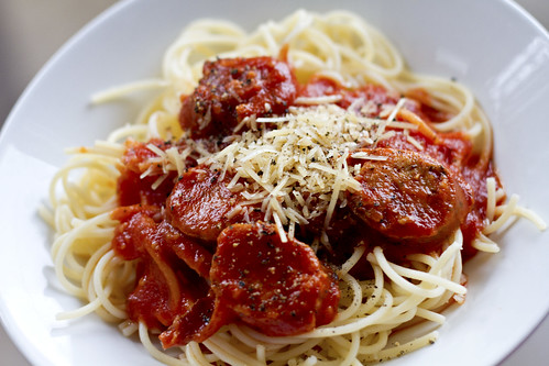 Turkey Sausage And Tomato Sauce Over Pasta Recipes — Dishmaps