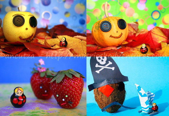 foto immagini con frutta divertente e fantasiosa
