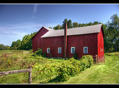 Red Barn 1 (azwoogie) Tags: new york red ny barn rural farm country upstate tone hdr kinderhook valatie tonemapped