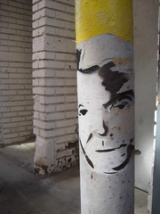 Dr Smith Graffiti Face 5071 (Brechtbug) Tags: show from street new york city art face that lost graffiti tv gallery jonathan dr space like smith looks actor 10th 1960s harris avenue 20th 1965 in 10172011