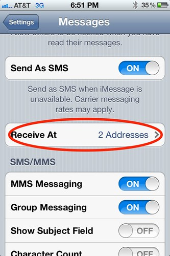 Step 1 - How to set up iMessage to work with multiple iOS devices