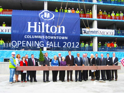 Columbus Hilton Topping Off Ceremony