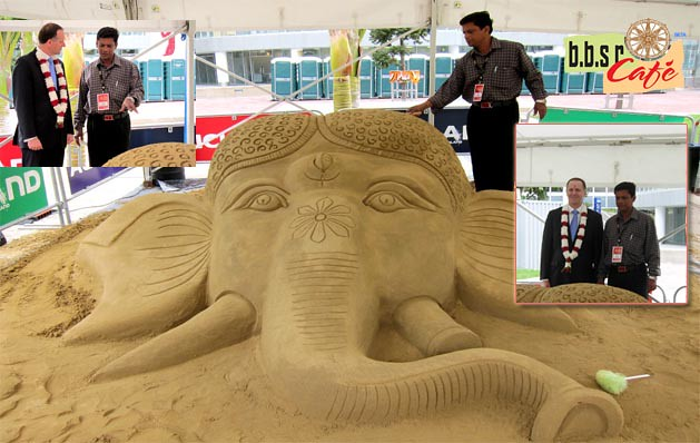 Sand Artist Ranjan Ganguly In New Zealand