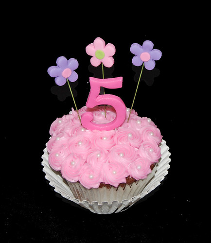 personal 5th birthday jumbo cupcake