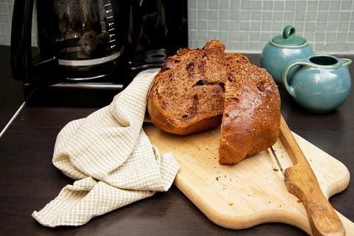 Mocha Brioche Loaf