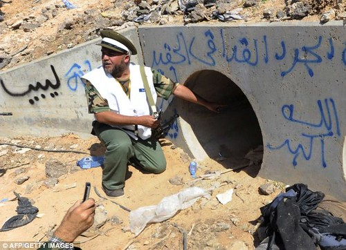 Gaddafi came out of the drain when he was eventually found