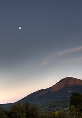 Moonrise (3nderr) Tags: sunset sky moon mountain nature beautiful landscape pretty peaceful moonrise serene hdr blueridgeparkway hdri photomatrix noom