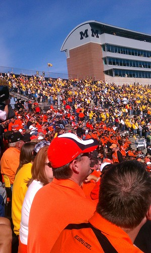11:07 a.m. Section 4 at Faurot Field