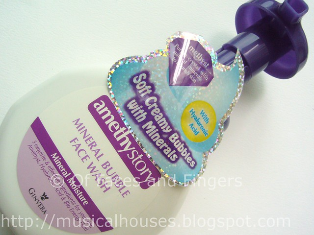 amethystory mineral bubble face wash