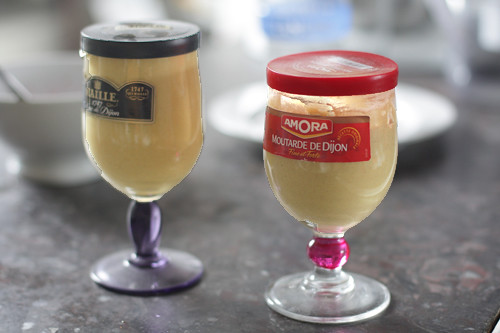 Dijon mustard glasses
