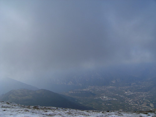 View from Monte Stivo (2058mt) over the Sarca valley, Riva and the end of the lake