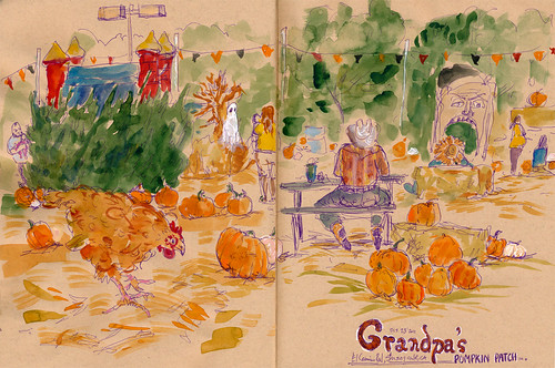 Grandpa's Pumpkin Patch by apple-pine