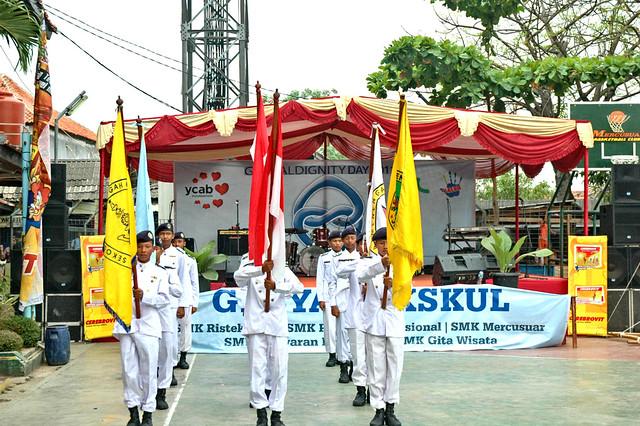 Schools performance to perform in Ujung Menteng East Jakarta